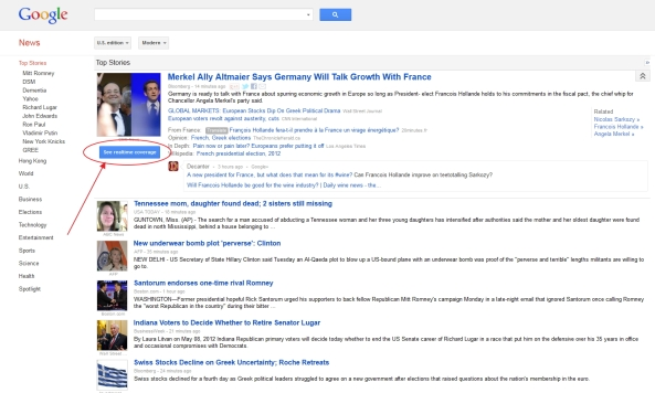 Google News integrated with Google+